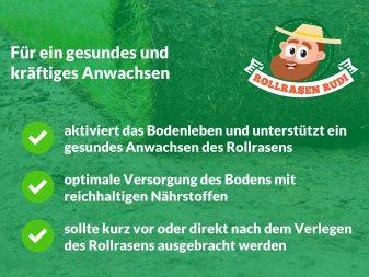 Rollrasen Rudi Bodenaktivator Erklärung