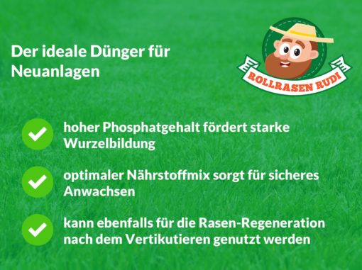 Rollrasen Rudi Starterdünger Erklärung