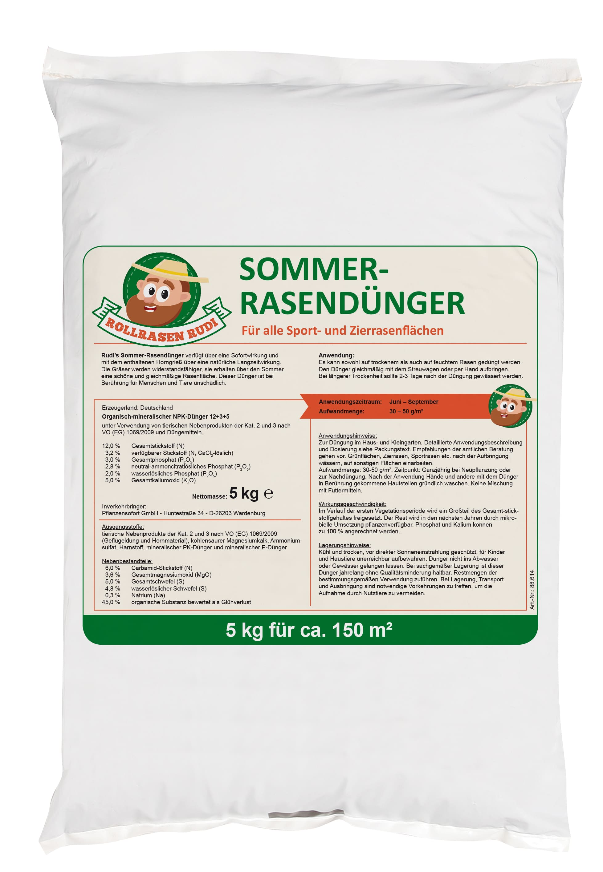 Rollrasem Rudi Rasendünger Sommer