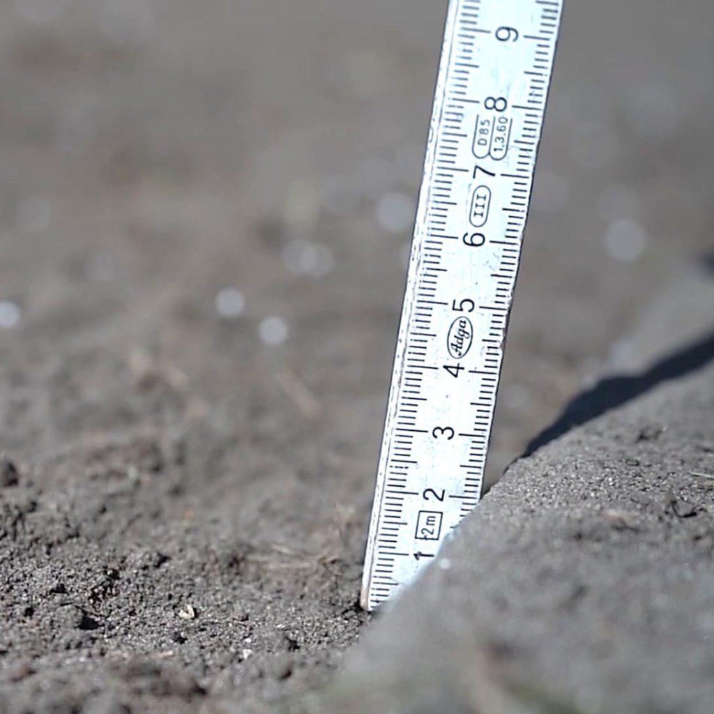 Bodenniveau 2 cm unter Abschlusskanten